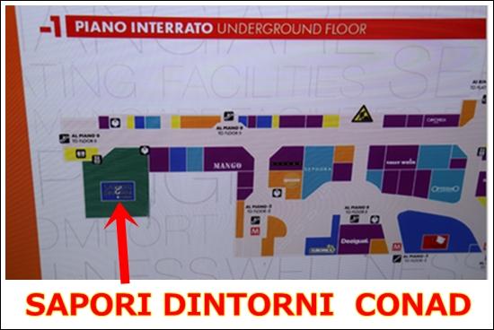 ローマテルミニ駅のスーパーconad