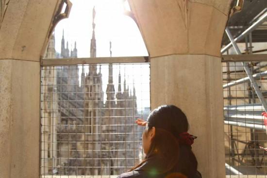 ミラノドゥオーモの屋上テラス