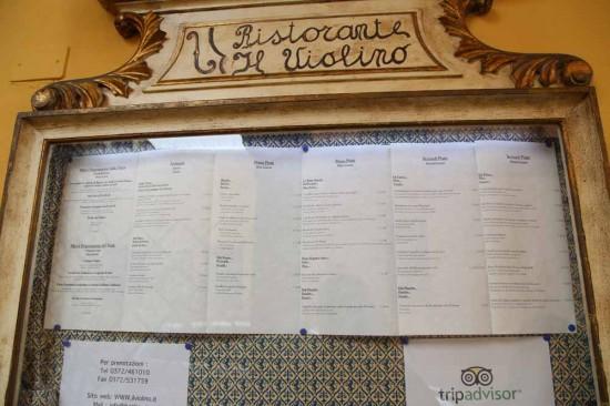 クレモナレストランIl Violino