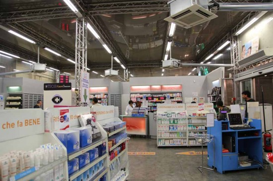 ミラノ中央駅の薬局